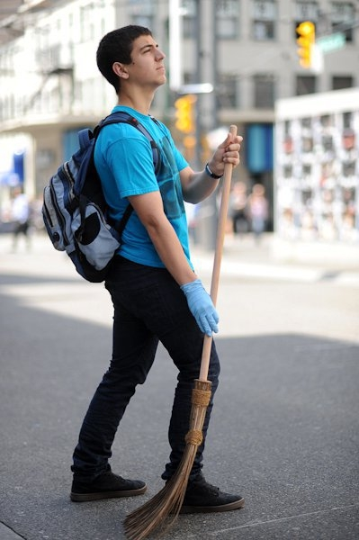 The Original Garden Broom | Cleaning up the Vancouver Riot | Picture 1