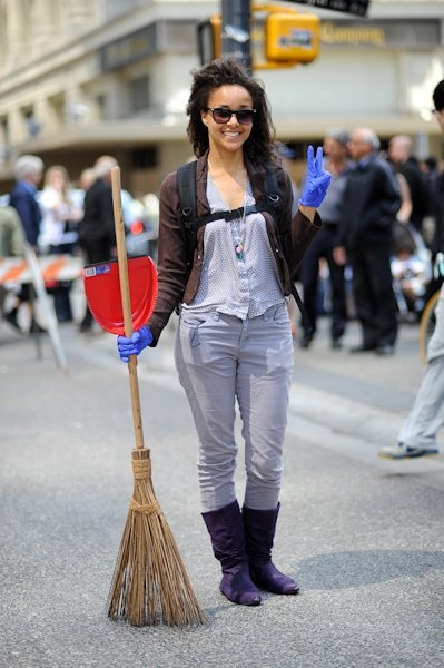 The Original Garden Broom | Cleaning up the Vancouver Riot | Picture 4