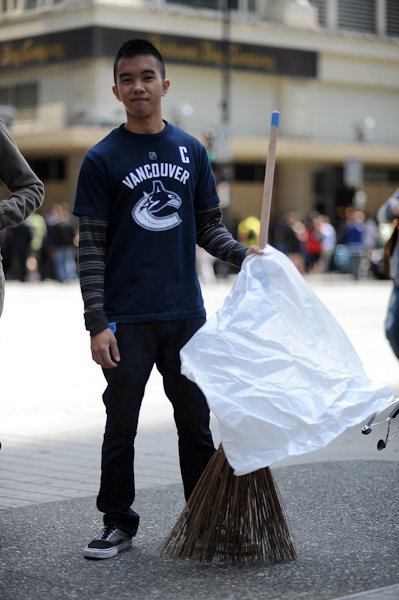 The Original Garden Broom | Cleaning up the Vancouver Riot | Picture 6